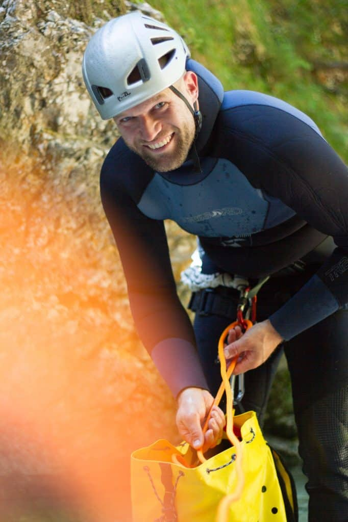 Alles im Griff - Andreas Höfer Canyoning mit Ronny Horning